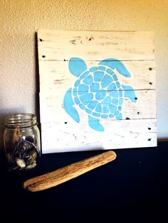 Show off your love for the beach with this adorable sea turtle sign! Its perfect for your beach house or a beach themed room in your house!