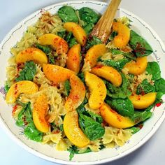 Inspired By eRecipeCards: ONE PEACHY PASTA SPINACH SALAD with Peach Vinaigrette! - 52