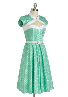 Soda Shop Sweetie Dress. Taking a seat at the soda shop counter, you and your love know just what treat youre in the mood for. #mint #modcloth