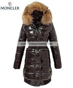 New Moncler Pop Star Women Long Down Coat Brown