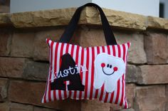 Personalized Tooth Fairy Pillow Pirate by forthelittlepeeps, $20.00