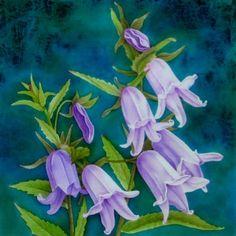 Silk Painting Campanula