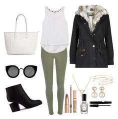 """""""Fall outfit"""" by yasmeenf ❤ liked on Polyvore featuring River Island, Rebecca Minkoff, Alexander Wang, Quay, Banana Republic, Elsa Peretti, Samira 13 and Sally Hansen"""