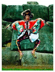 inca: isabeli fontana and aymeline valade by mario testino for vogue paris april 2013 | visual optimism; fashion editorials, shows, campaigns & more!