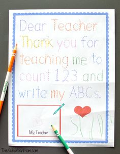 Thank you messages to teachers from parents notes and quotes traceable preschool teacher thank you note m4hsunfo