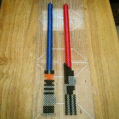 Lightsabers - Star Wars perler beads by mr_jamesromo