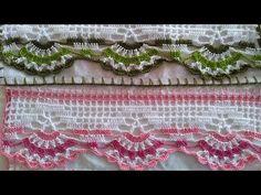 🤩LUXO🤩 BARRADO DE CROCHÊ PARA PANO DE PRATO - parte 01 - YouTube Filet Crochet, Crochet Necklace, Youtube, Cute Crochet, Crocheted Lace, Embroidery, Embroidery Hoops, Dots, Napkin