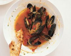 Mussels with Sherry, Saffron, and Paprika! Serve with toasted country bread :)