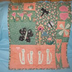 Baby girl -car seat quilt-handmade,wall hanging, crib quilt,shower gift by WindingThread on Etsy Baby Girl Car Seats, Baby Girl Items, Handmade Wall Hanging, Cribs, Hanging Crib, Shower, Quilts, Blanket, Unique Jewelry