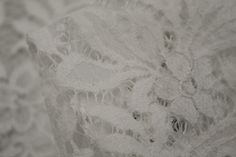 White Lacey Secrets - Panel Length Only - Lace - Tessuti Fabrics - Online Fabric Store - Cotton, Linen, Silk, Bridal & more