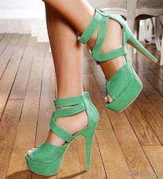 Girls high heel stylish shoes 2015