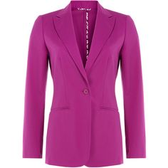 Etro Tailored Cotton Blend Blazer ($762) ❤ liked on Polyvore featuring outerwear, jackets, blazers, coats & jackets, giacche, purple, tailored blazer, etro jacket, etro blazer and purple blazer
