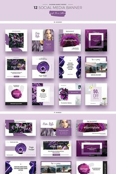 Purple Flowers Social Media Designs PSD Template #psd #psdtemplate #psdphotoshop #psdmockup https://www.templatemonster.com/psd-templates/purple-flowers-social-media-designs-psd-template-66946.html Social Media Design, Social Media Banner, Social Media Ad, Social Media Template, Social Media Marketing, Xbanner Design, Layout Design, Graphic Design, Digital Banner