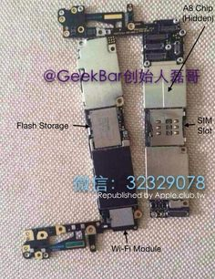 Assembled iPhone 6 Logic Board Revealed in New Photo - http://www.aivanet.com/2014/08/assembled-iphone-6-logic-board-revealed-in-new-photo/