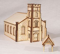 #Ch001 #parish church and lych gate oo gauge model #laser cut kit,  View more on the LINK: http://www.zeppy.io/product/gb/2/121563466484/