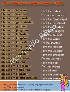 Bindewörter - Sentence Connectives - learn German,grammar ...