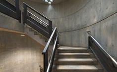 Louis Kahn's Yale Center for British Art Reopens After Restoration,Yale Center for British Art, circular stairs following conservation. Image © Richard Caspole