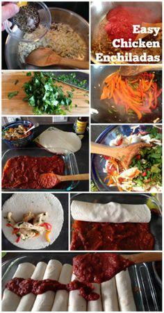 Easy Chicken Enchiladas Recipe #cincodemayo #mexican #enchiladas