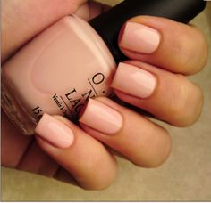 "OPI Color...""sweetheart."" Kind of a peachy pink. Gorgeous."