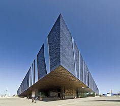 Forum Barcelona, Spain, by Swiss architects Jacques Herzog and Pierre de Meuron