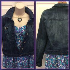 New ListingJean Jacket Like new blue jeans jacket with two inside pockets. Size Large Elle Jackets & Coats Jean Jackets
