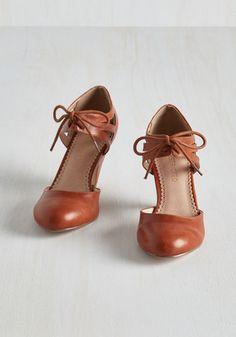 Shimmy My Way Heel in Caramel | Mod Retro Vintage Heels | ModCloth.com