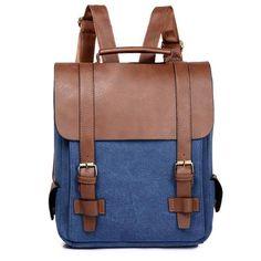 dc17060538 Fashion Women Backpack PU Leather School Bag Vintage Large Schoolbag For  Teenage Girls Brown Black Backpacks Men Rucksack XA30H