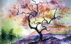 watercolor paintings | Watercolor Tree Painting 1920x1200 #12366 HD Wallpaper Res: 1920x1200 ...