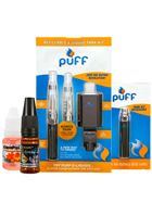 Why buy e cigarette starter kits?  These starter kits are a gret way for new vapers or experienced smokers to get a great electronic cigarette package deal.  Our electronic cigarette starter kits include everything you need to start vaping today including batteries, atomizers, clearomizers, chargers and bottles of e-liquids.  We have the best selection of portable vaporizer kits online and offer starter kits from brands such as eGo, Joyetech, Starbuzz, Fantasia, and E-Tonic.
