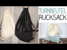DIY Turnbeutel RUCKSACK nähen für Anfänger - stylischer Taschenersatz - alive4fashion - YouTube