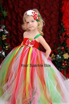 Christmas tutu dress by Your Sparkle Box on etsy