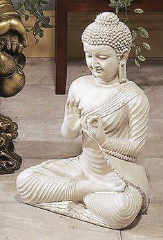 5Buddha Vairochana White Cosmic Meditation Statue