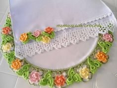 Awesome Most Popular Embroidery Patterns Ideas. Most Popular Embroidery Patterns Ideas. Crochet Lace Edging, Crochet Borders, Thread Crochet, Irish Crochet, Crochet Doilies, Crochet Flowers, Crochet Stitches, Embroidery Bracelets, Ribbon Embroidery