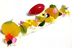 Compressed Peaches, Vanilla Cremeux, Raspberry Sorbet   Flickr - Photo Sharing!