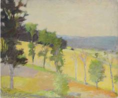 Wolf Kahn (b. 1927)  Putney Slope  signed 'W Kahn' (lower left)--inscribed with title (on the stretcher)  oil on canvas  30 x 36¼ in. (76.2 x 92.1 cm.)