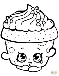 Shopkin Coloring Pages, Cupcake Coloring Pages, Crayola Coloring Pages, Easy Coloring Pages, Disney Coloring Pages, Animal Coloring Pages, Coloring Pages To Print, Free Printable Coloring Pages, Coloring Pages For Kids