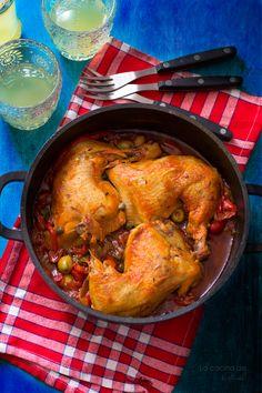 Pollo a la mediterránea de JAMIE  OLIVER. LA COCINA DE AISHA