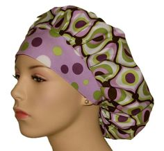 Print: Groovy fabric in white, light medium and dark lavender, lime and dark celery green with coordinating lavender lolli dots headband. Love it!