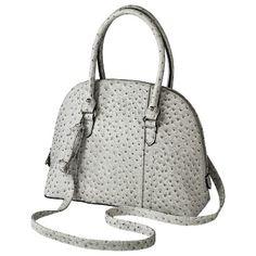 #Ostrich Dome Satchel Bag - Gray  Purses #2dayslook #Purses #sunayildirim #watsonlucy723  www.2dayslook.com