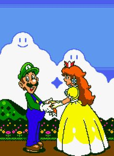 a pic submitted by I digitalized image of Luigi and Daisy, an awesome pic, thank you very much (Comment and the original [link]) Daisy gives Luigi an award Luigi And Daisy, Mario And Luigi, Super Mario Brothers, Super Mario Bros, Mass Effect Comic, Princesa Daisy, Mario All Stars, Mario Fan Art, Nintendo Princess
