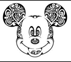 mickey mouse head outline tattoo - Google Search