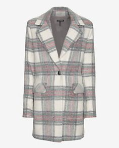 Exclusive For Intermix Single Breasted Plaid Coat