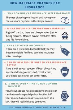 #Carinsurance after marriage should lead to drop in car insurance rates if policies are combined.