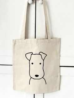 Your place to buy and sell all things handmade Terrier Tote Bag, Dog Bag, Terrier Design, Screenprinted Tote Bag, Screenprinted Sac Tods, Tods Bag, Dog Tote Bag, Animal Bag, Diy Purse, Cotton Tote Bags, Cotton Shopping Bags, Canvas Tote Bags, Kitty