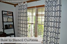 DIY Stenciled Curtains & Royal Design Giveaway - The Cards We Drew