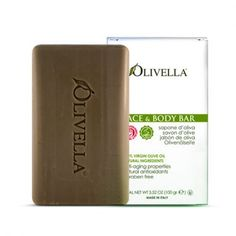 Olivella's Original Bar Soap is made from 100% Virgin Olive Oil. You will be pleased to discover that our natural bar soap contains no animal fats, no harsh man-made chemicals, no dyes nor color additives.