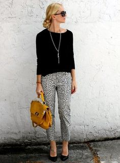 Love this... I have printed crop pants, now just need to find that loose long sleeve. And that BAG