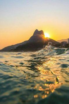 Sunset in Rio Tumblr Photography, Nature Photography, Travel Photography, Brazil Tourism, Brazil Vacation, Nature Landscape, Destination Voyage, Foto Art, Nature Pictures
