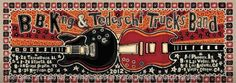 BB King and Tedeschi Trucks Band 2012 Tour poster  It was posted from Derek Trucks at the news BB King had died.