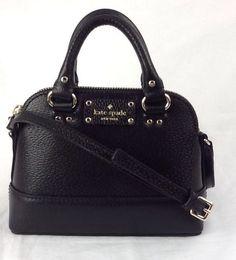 Kate Spade New York Leather Mini Rachelle Crossbody Shoulder Bag Black  #katespade #MessengerCrossBody